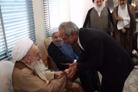 الرئيس روحانی يطلع مراجع الدین على خطط حكومته الاقتصادية 5