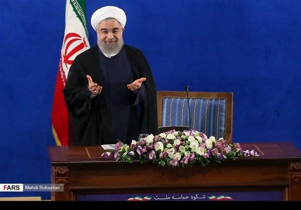 اول اطلالة صحفية للرئيس روحاني بعد فوزه بولاية ثانية6