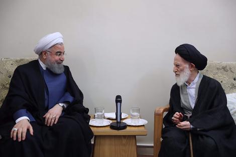 الرئيس روحانی يطلع مراجع الدین على خطط حكومته الاقتصادية 8