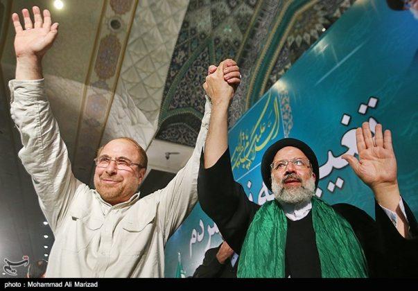 المرشح رئيسي بين أنصاره في طهران 9