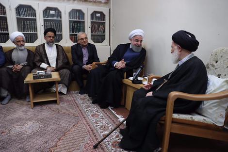 الرئيس روحانی يطلع مراجع الدین على خطط حكومته الاقتصادية 9