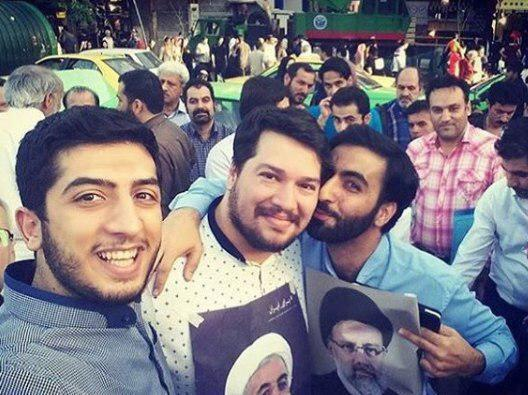 Rouhani and Raisi fans