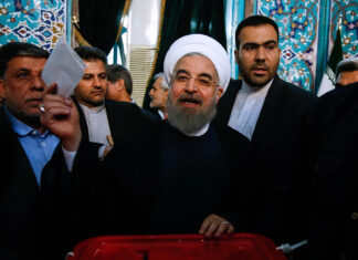 Incumbent President Rouhani Votes in Iran Elections