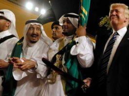 Saudi Salman King and Trump Dance