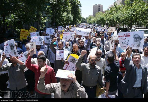 مسيرة في طهران تندد بممارسات سلطات البحرين