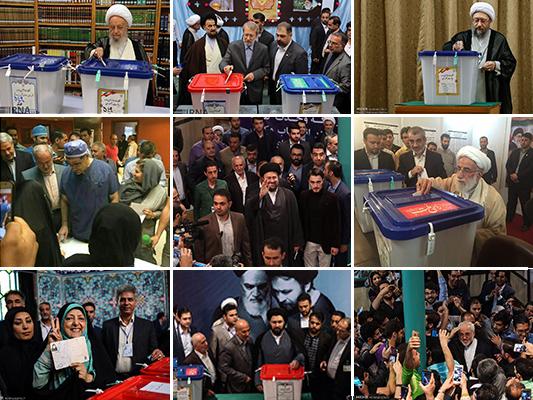 Top Iranian Officials, Clerics Cast Ballots in Iran Elections