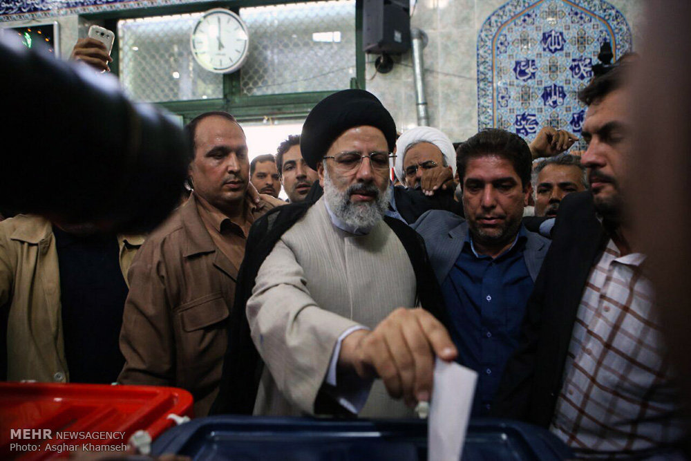 Presidential Candidate Raisi Votes in Iran Elections