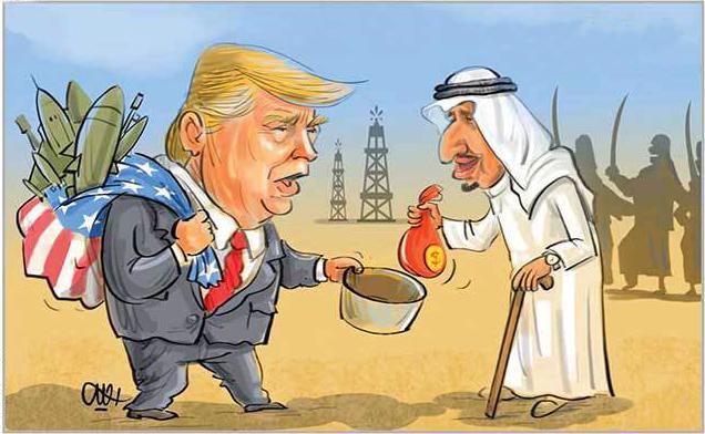 كاريكاتير .. ترامب البائع الجوال