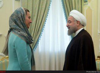 موغريني تهنئ روحاني بفوزه في الانتخابات