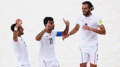 ايران تحرز المركز الثالث عالميا في الكرة الشاطئية