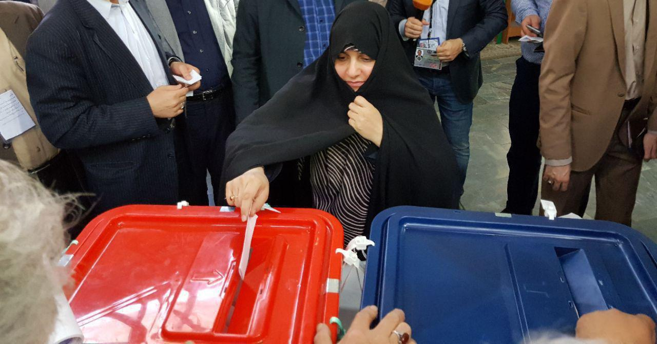 Presidential Candidate Raisi Votes in Iran Elections-1