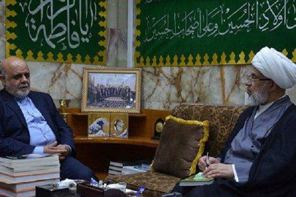 السفير الايراني لدى العراق يلتقي ممثل المرجع السيستاني