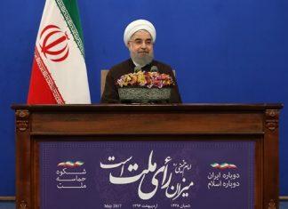 """روحانی .. الشعب رد بـ """" لا """" بوجه كل من كان یتهم الحكومة بالتخلف"""