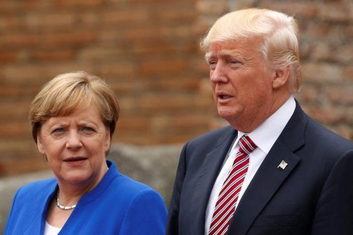 آنگلا مرکل-دونالد ترامپ