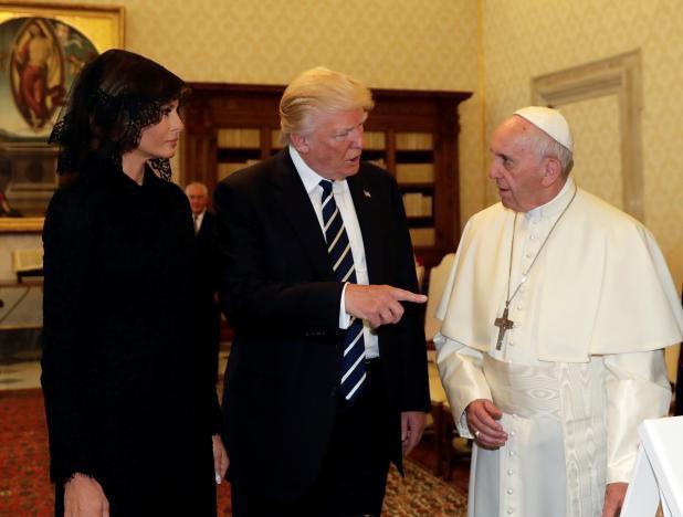 دیدار سرد ترامپ با پاپ