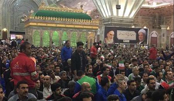 طهران .. إحتفال بمناسبة يوم العمال العالمي بحضور الرئيس روحاني