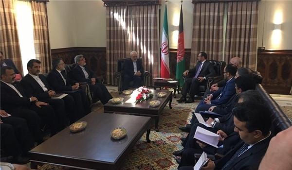 ظريف في افغانستان