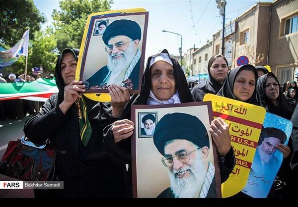 مظاهرات يوم القدس في ارجاء ايران 1
