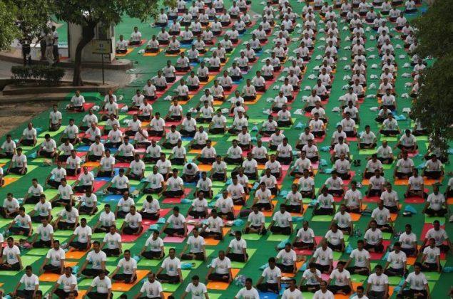 برگزاری مراسم روز جهانی یوگا در بیش از ۱۰۰ کشور جهان15