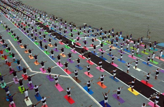 برگزاری مراسم روز جهانی یوگا در بیش از ۱۰۰ کشور جهان16