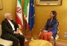 ظريف يبحث مع المسؤولين الإيطاليين سبل تطوير العلاقات الثنائية