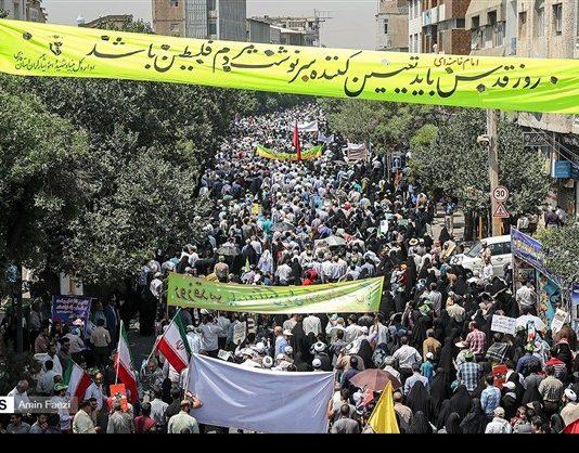 مظاهرات يوم القدس في ارجاء ايران