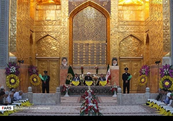 تلاوة القرآن الكريم في رمضان عند مرقد الإمام الرضا (ع)33