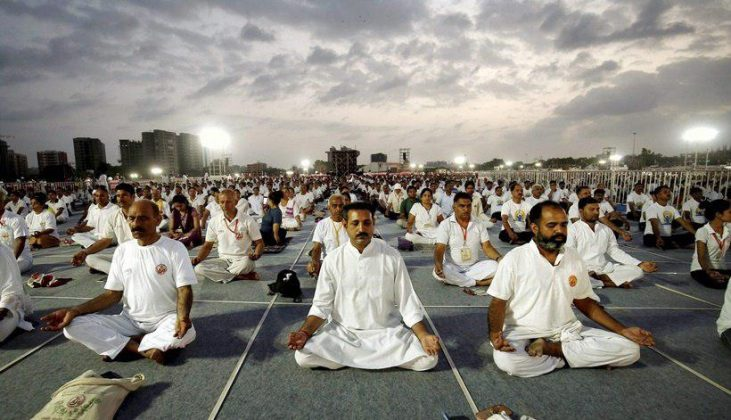 برگزاری مراسم روز جهانی یوگا در بیش از ۱۰۰ کشور جهان7