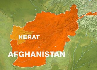 Herat in Afghanistan - map