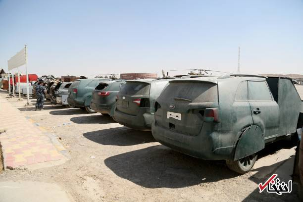 ISIS Suicide Vehicles on Show in Iraq's Mosul