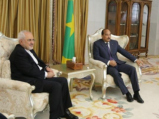 وزير الخارجية الايراني يلتقي الرئيس الموريتاني