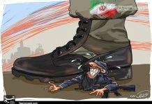 کاریکاتیر .. سحق فلول الارهاب فی ایران