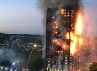 آتش سوزی برج لندن