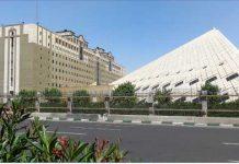 تطهير مبني البرلمان الايراني من دنس الارهابيين بحضور لاريجاني