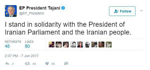 Europe Condoles Iranian Nation on Tehran Attacks