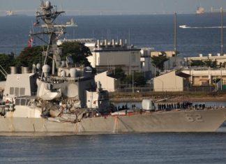 تصادف ناو آمریکایی با کشتی غولپیکر فیلیپینی در آبهای ژاپن