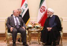 الرئيس الايراني حسن روحاني يلتقي رئيس الوزراء العراقي