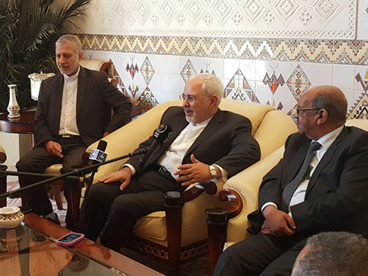 Iranian FM Zarif meets with Tunisian president