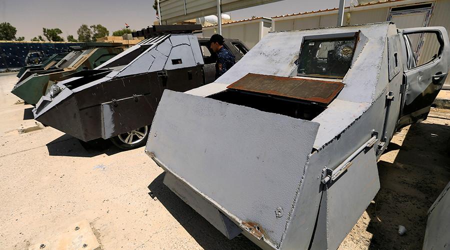 از تانک نامرئی تا بولدوزر زرهی در نمایشگاه خودروهای داعش1