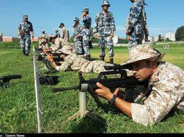الحرس الثوري يجري تدريبات في الصين1