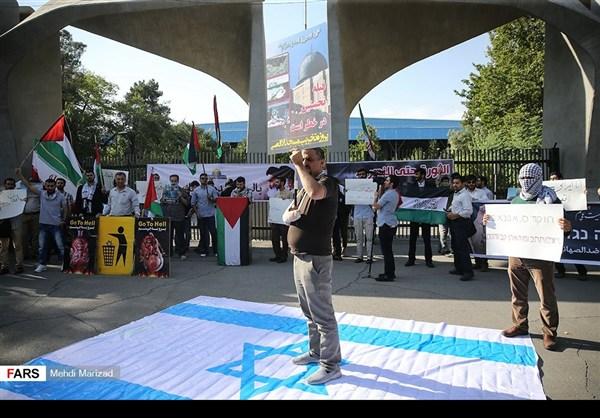 تجمع طلابي امام جامعة طهران نصرة للمسجد الاقصى11