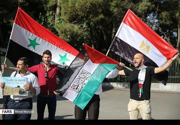 تجمع طلابي امام جامعة طهران نصرة للمسجد الاقصى12