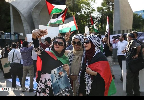 تجمع طلابي امام جامعة طهران نصرة للمسجد الاقصى13