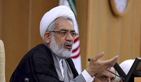 القضاء الايراني يدعو للاحتجاج على شطب الغرب منظمة