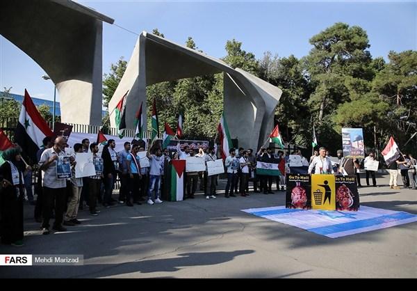 تجمع طلابي امام جامعة طهران نصرة للمسجد الاقصى14