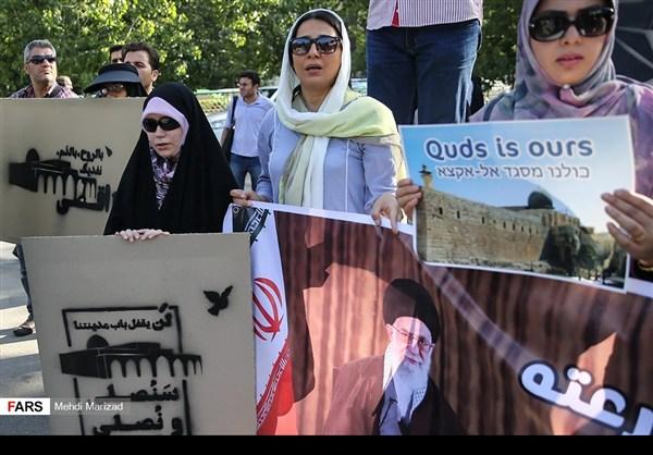 تجمع طلابي امام جامعة طهران نصرة للمسجد الاقصى16