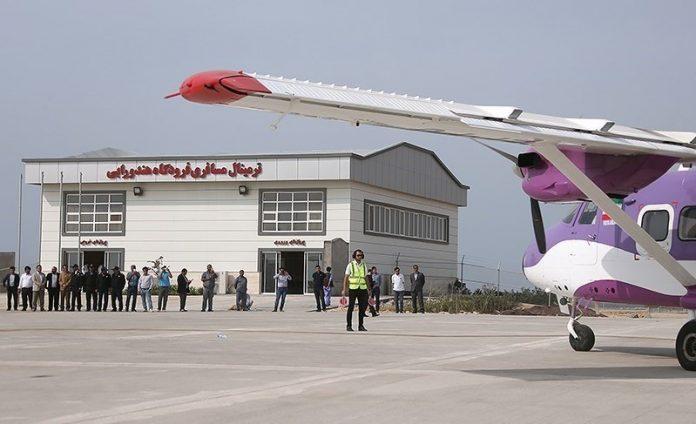 إفتتاح أحدث مطار إيراني في جزیرة