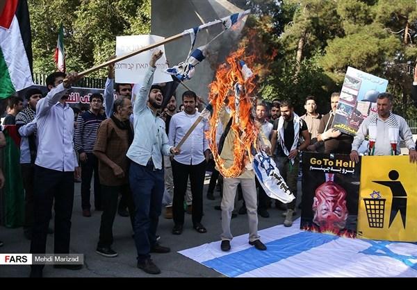 تجمع طلابي امام جامعة طهران نصرة للمسجد الاقصى17