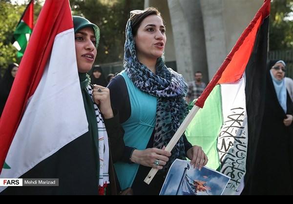 تجمع طلابي امام جامعة طهران نصرة للمسجد الاقصى18