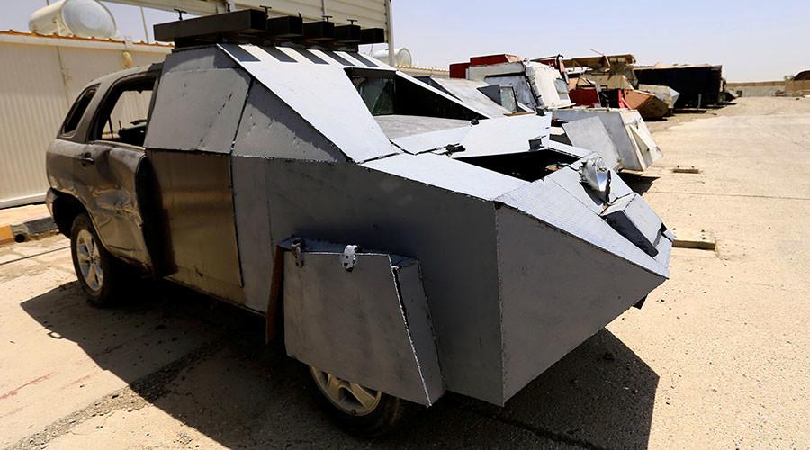 از تانک نامرئی تا بولدوزر زرهی در نمایشگاه خودروهای داعش2